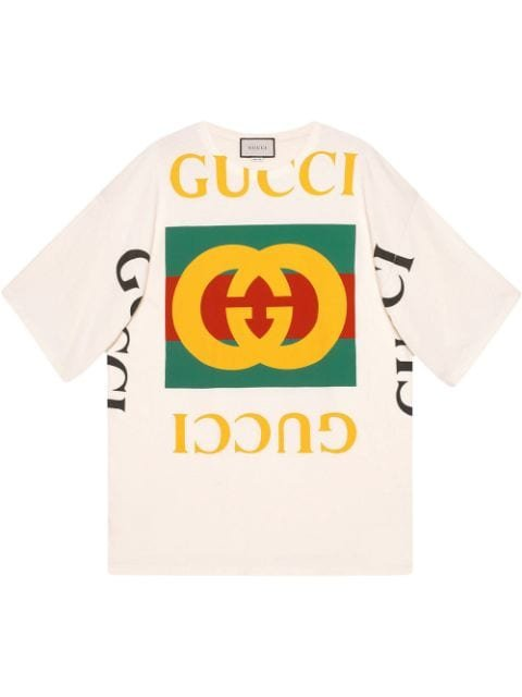 Gucci Oversized T-Shirt With Gucci Logo Aw20 | Farfetch.Com