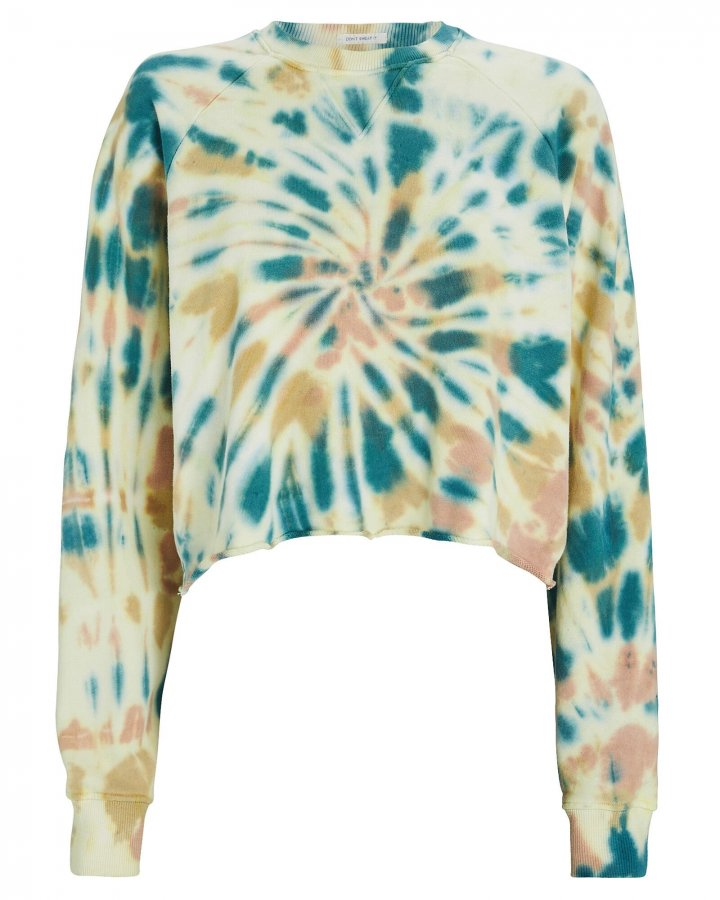 Loafer Cropped Tie-Dye Sweatshirt