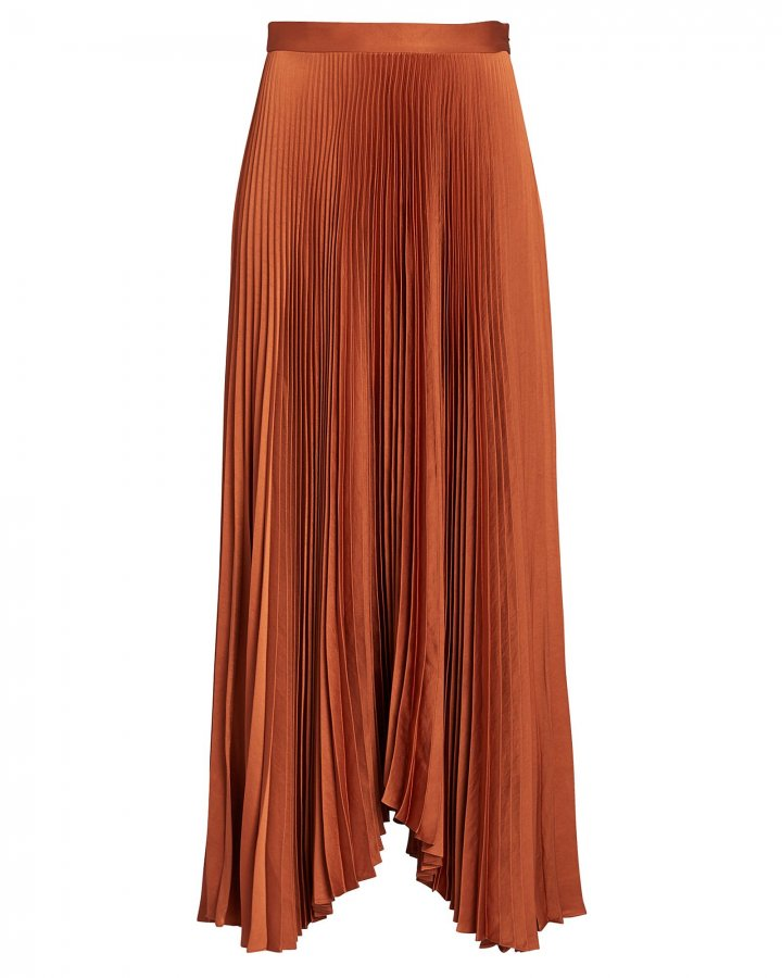 Laine Pleated Midi Skirt