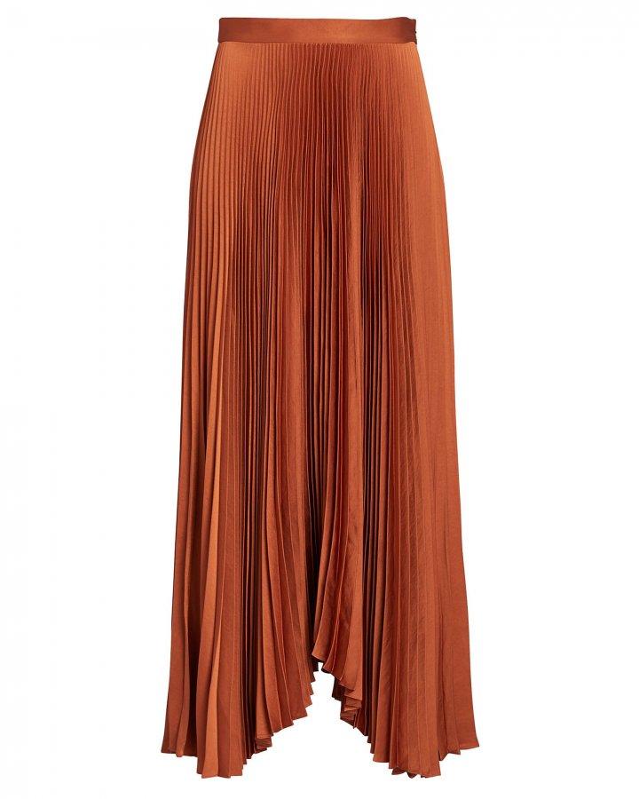 Laine Pleated Midi Skirt