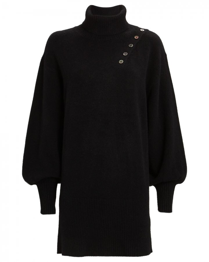 Blake Rib Knit Turtleneck Dress