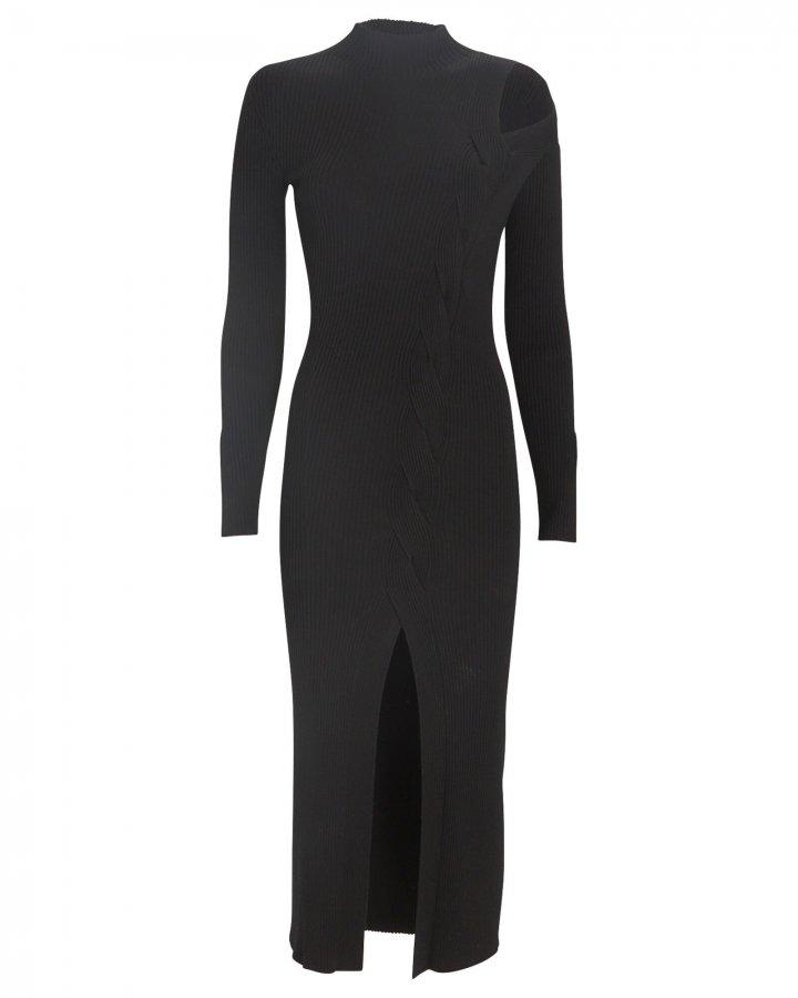 Aurora Cable Knit Midi Dress