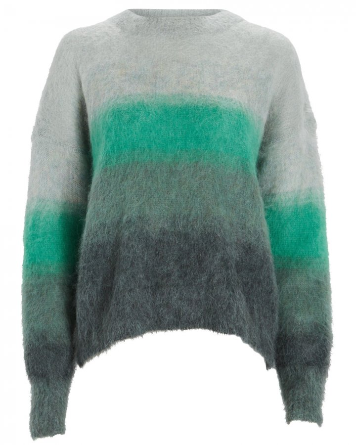 Drussell Striped Mohair-Blend Sweater