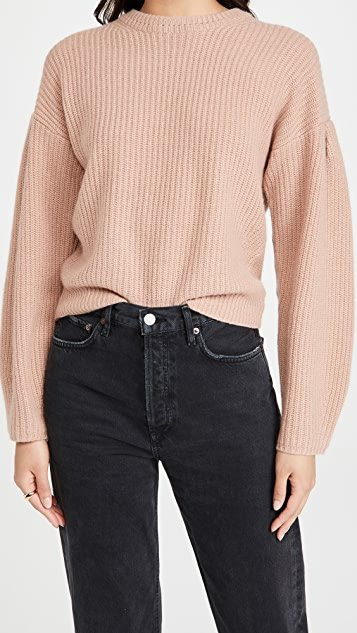 Ambrose Puff Sleeves Cashmere Pullover