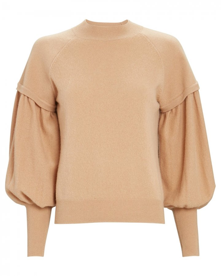 Mackenzie Bishop Sleeve Cashmere Sweater