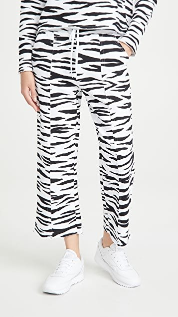 Zebra Cropped Sweatpants