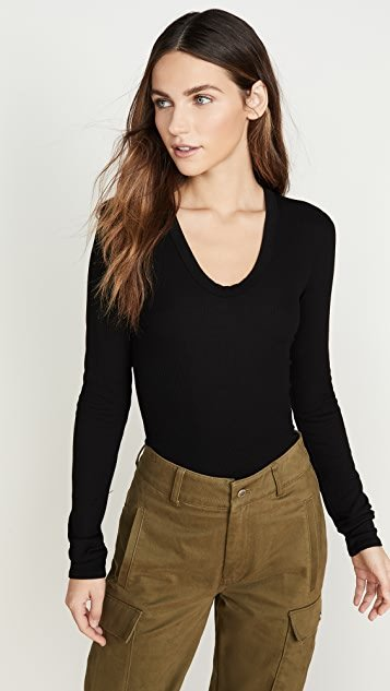 Rib Fitted Top
