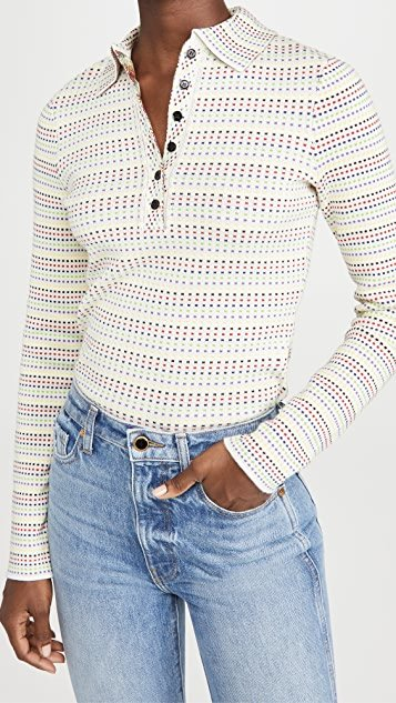 Long Sleeve Polo Sweater
