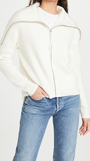 Cashmere Zip Turtleneck