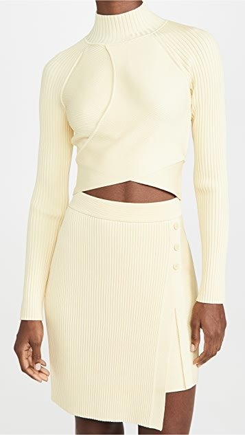 Camila Compact Cut Out Long Sleeve Top