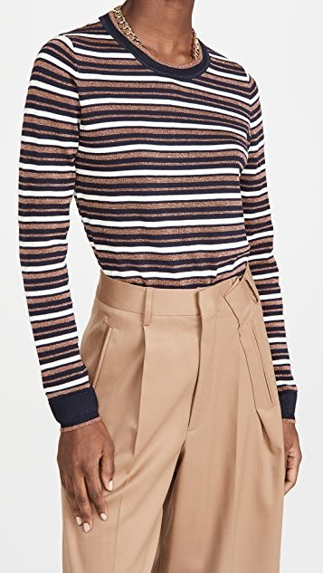 Basic Striped Pullover Sweater