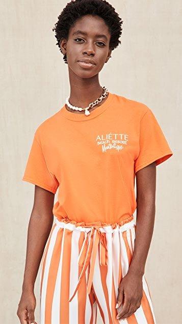 Aliette Logo Crew Neck Tee