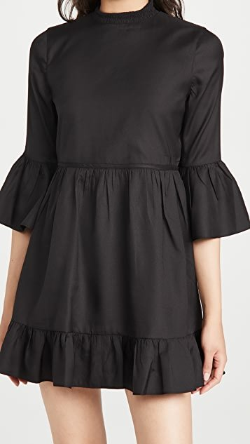 Aislyn Flutter Sleeve Tiered Mini Dress