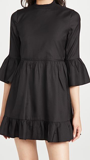 Aislyn Flutter Sleeve Tiered Mini Dress