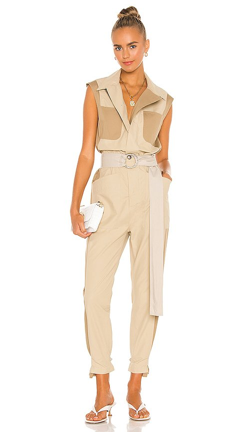 Tonal Blocked Jumpsuit