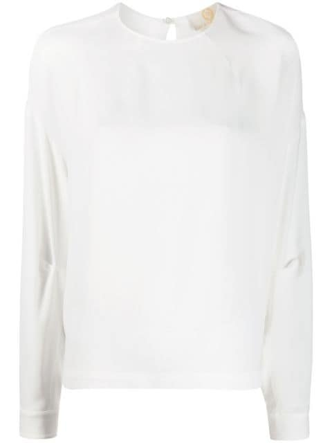 Sara Battaglia Boxy Fit Curved Hem Blouse Ss20 | Farfetch.Com