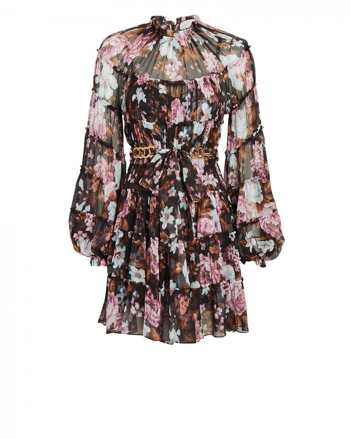 Charm Tiered Floral Mini Dress
