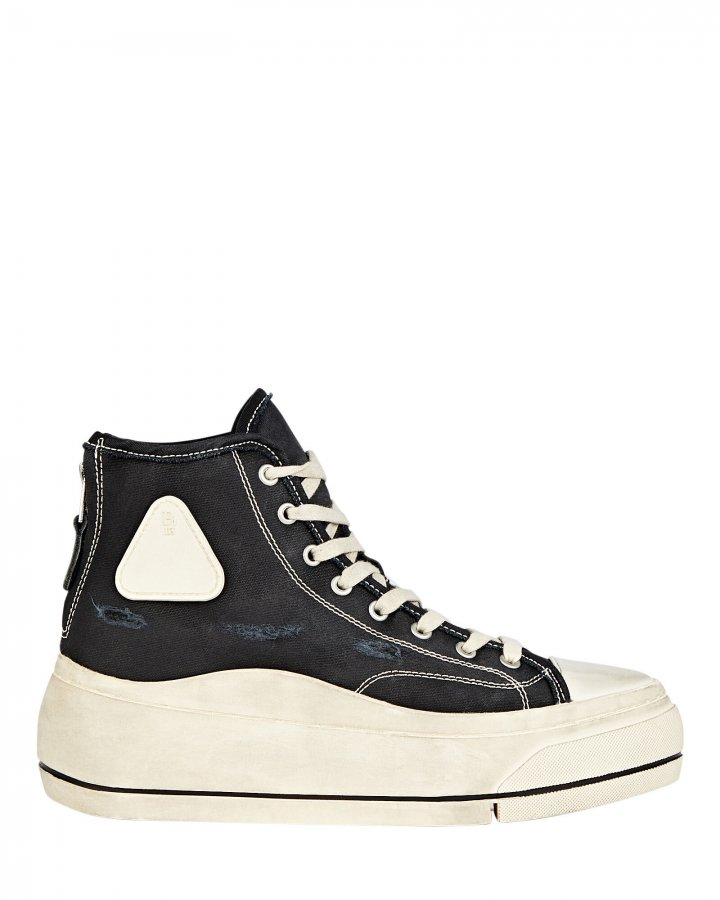 Platform High-Top Canvas Sneakers