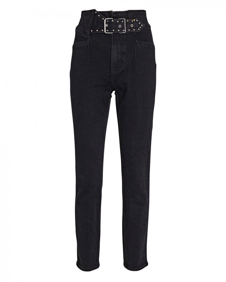 Alivia Belted Skinny Jeans