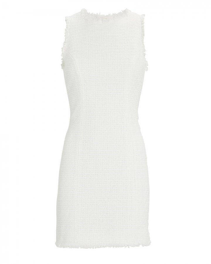 Sleeveless Tweed Mini Dress