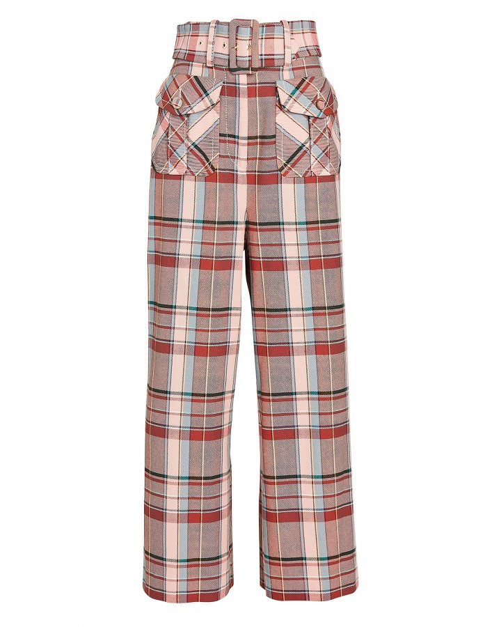 Lucky Belted Check Pants