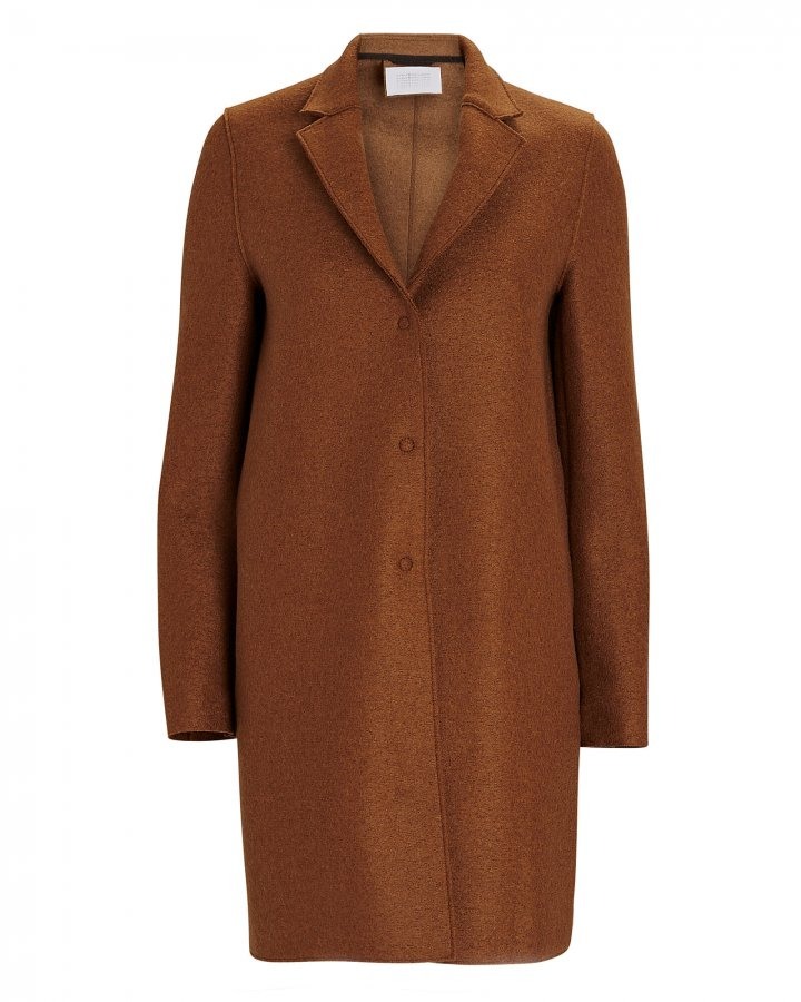 Cocoon Pressed Wool Coat