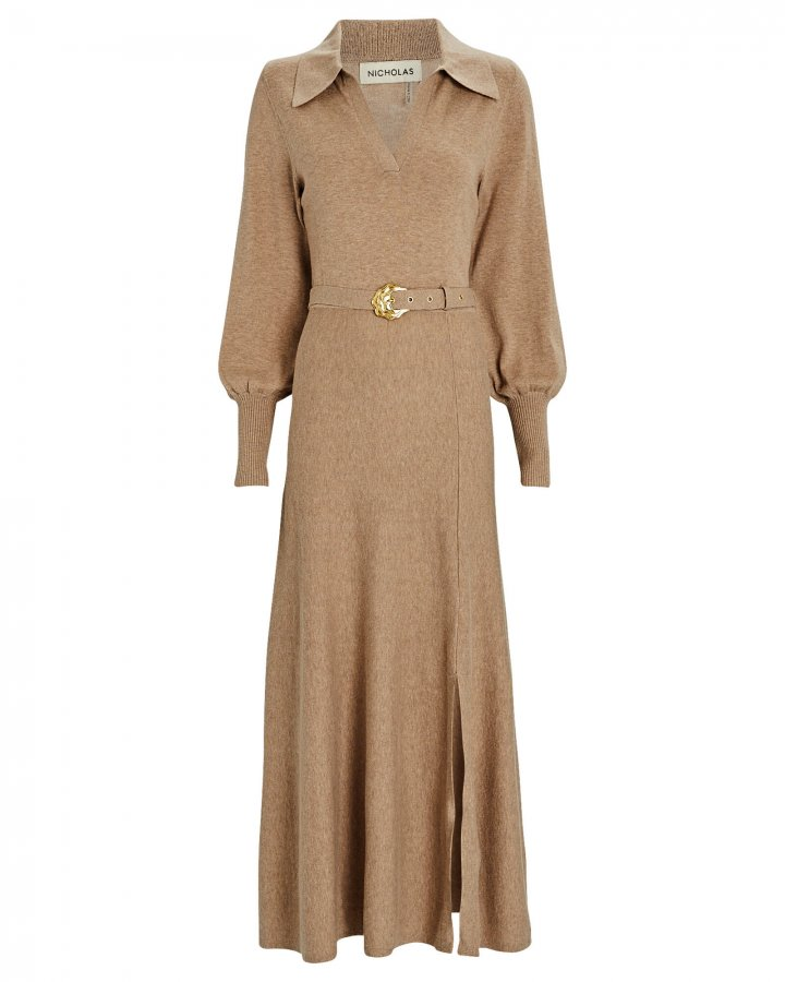 Katya Cotton-Wool Maxi Sweater Dress