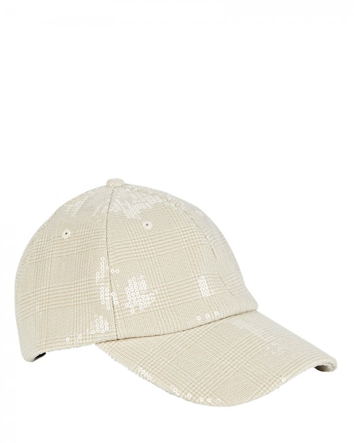 Lo Sequined Plaid Cap