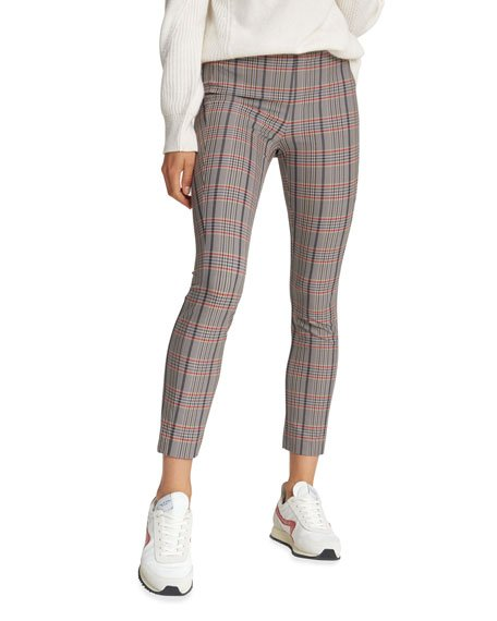 Simone Fitted Check Cropped Pants