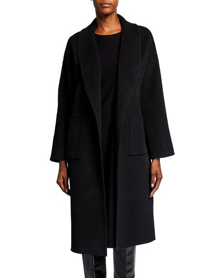 Shawl Collar Wool-Cashmere Coat