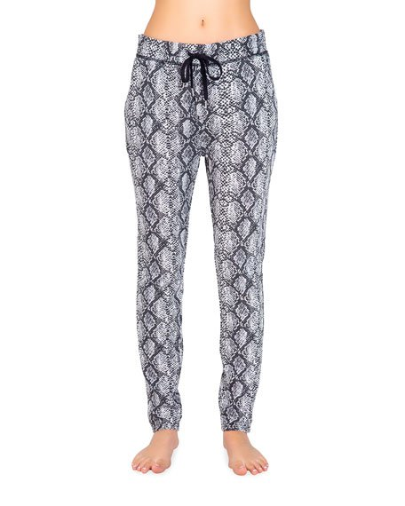 C Nights Snakeskin Printed Pajama Pants