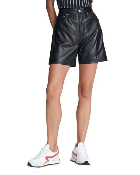 Super High-Rise Leather Shorts