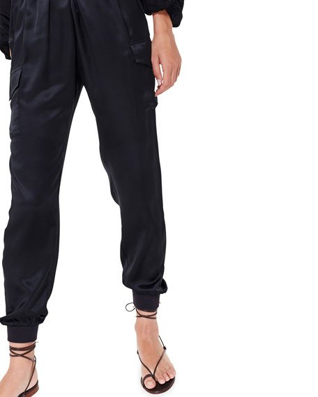 The Elsie Silk Jogger Pants