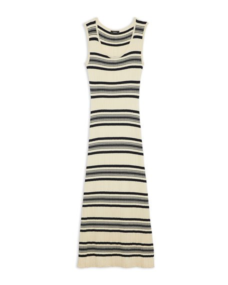 Striped Sleeveless Rib Dress