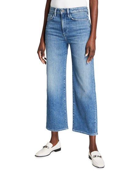 Wyckoff 13 oz Italian Heritage Denim Wide-Leg Ankle Jeans