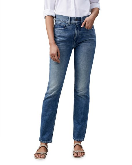 Reeve High-Rise 13oz Italian Heritage Denim Straight-Leg Jeans