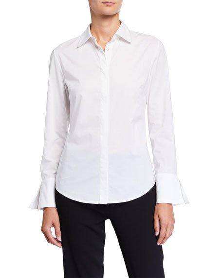 Cotton Poplin Button-Down Shirt