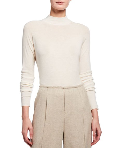 Seamless Funnel-Neck Pullover