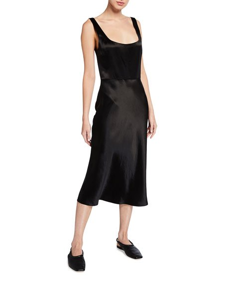 Slim Fitted Satin Slip Dress