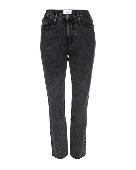 Le Sylvie Straight Raw-Edge Jeans