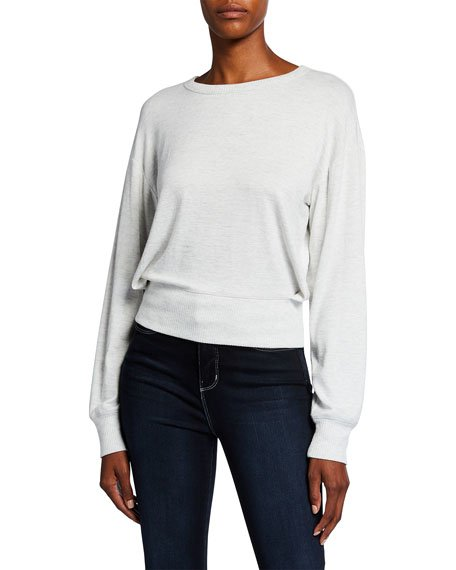 The Knit Crossover Long-Sleeve Top