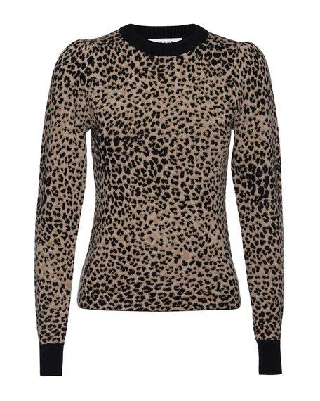Cheetah Jacquard Wool Sweater