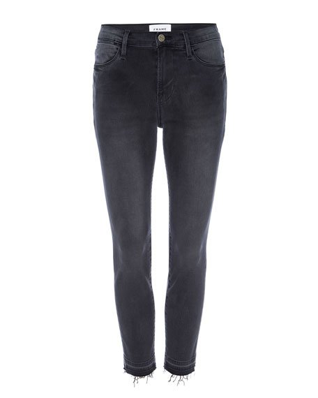 Le High Skinny Crop Jeans with Released Hem