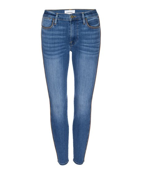 Le High Skinny Jeans with Piping