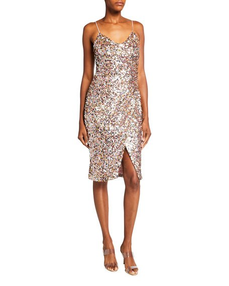Bowery Funfetti Sequin Sheath Dress