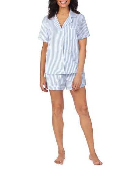 3D Striped Cotton Shorty Pajama Set
