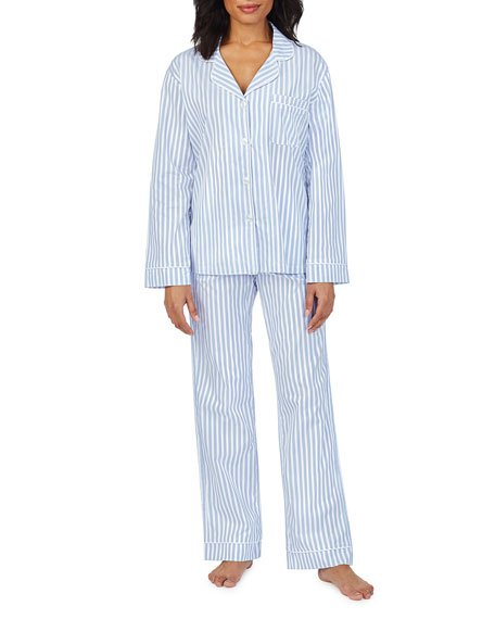 3D Striped Long-Sleeve Cotton Pajama Set
