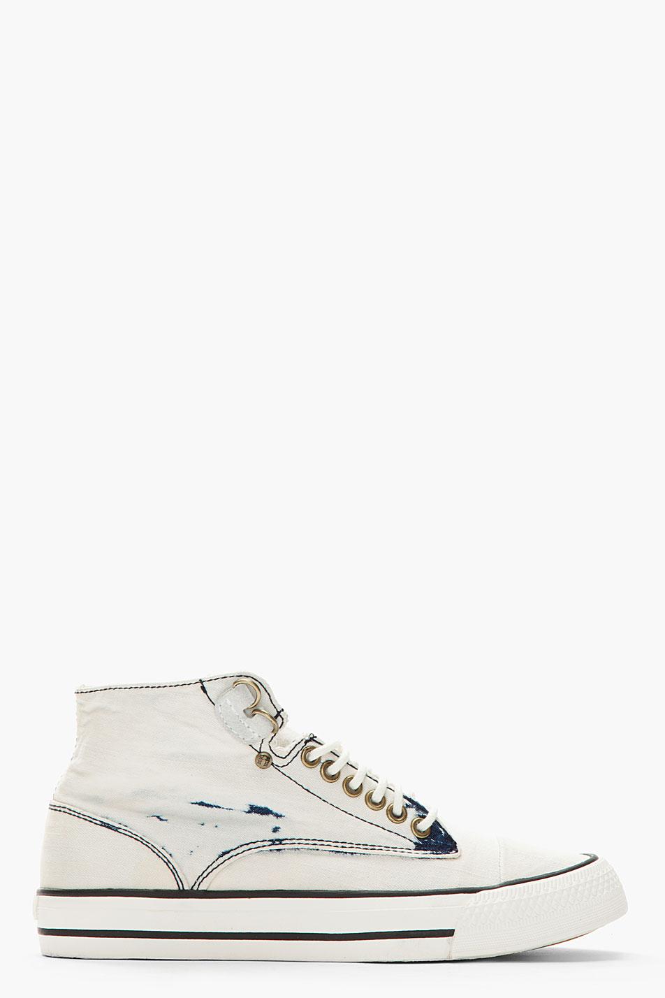 Diesel Bleached Denim Persis Sneakers