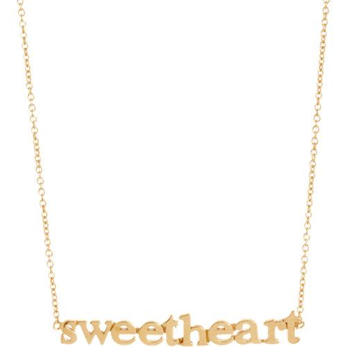 Jennifer Meyer Gold Sweetheart Necklace