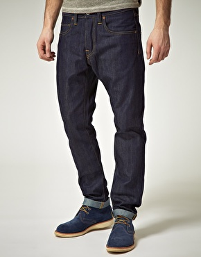 Edwin ED-55 Relaxed Tapered Unwashed Raw Jeans